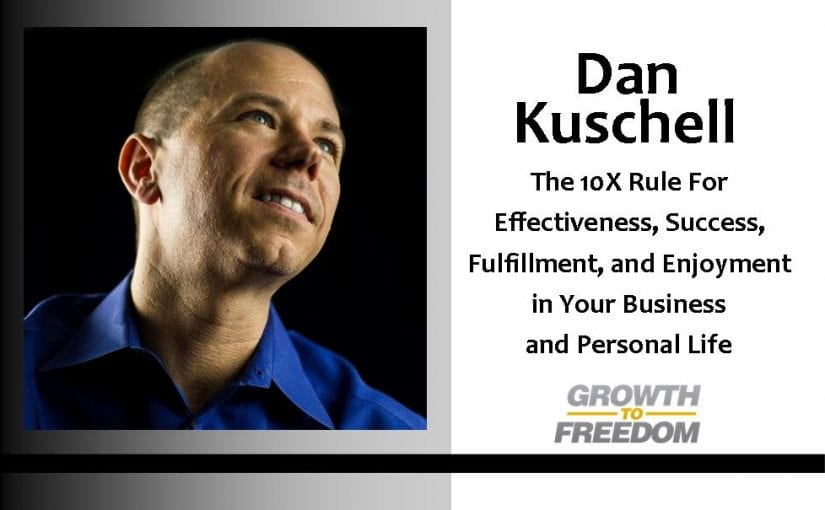 The 10X Rule for effectiveness, success, fulfillment, and enjoyment in your business and personal life. [PODCAST 42]