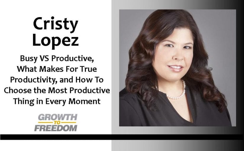 Busy VS Productive, What Makes a For True Productivity, and How To Choose the Most Productive Thing in Every Moment with Dr. Cristy Lopez [PODCAST 59]