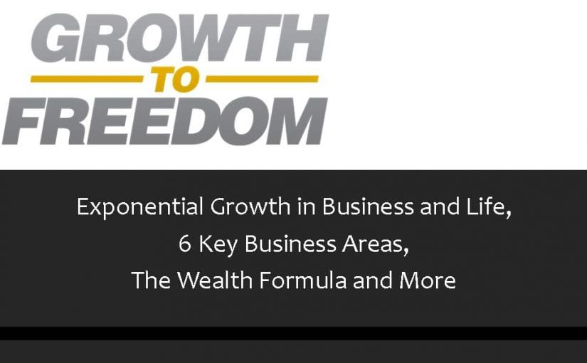 Exponential Growth in Business and Life, 6 Key Business Areas, The Wealth Formula and More [PODCAST 85]