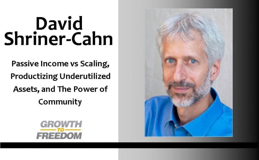 Passive Income VS Scaling, Productizing Underutilized Assets, and the Power of Community with David Shriner-Cahn [PODCAST 62]