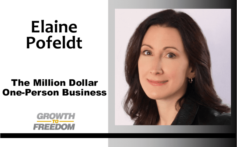 The Million Dollar One-Person Business with Elaine Pofeldt [PODCAST 149]