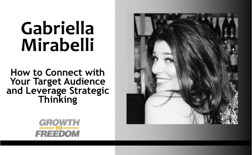 How to Connect with Your Target Audience and Leverage Strategic Thinking with Gabriella Mirabelli [PODCAST 153]